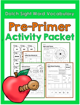 Sight Word Activities: Primer Packet