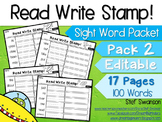 Sight Word Activities! Read, Write, Stamp {EDITABLE}