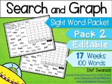 Sight Word Activities! Search, Read, Graph! {EDITABLE}