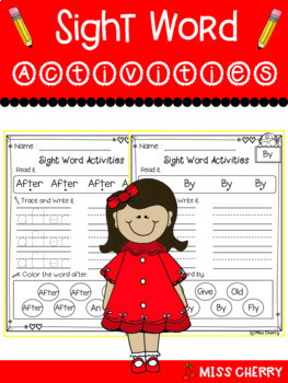 Sight Word Activities The BUNDLE