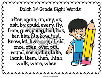 Sight Word Activities Trace and Write Dolch Sight Words and Nouns