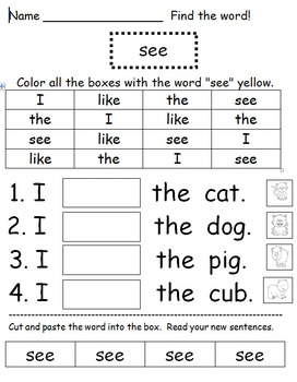 Sight Words for Beginners