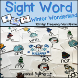 "Sight Word Activities ""Winter Wonderland"" - 100 Sight Words Reading Game"