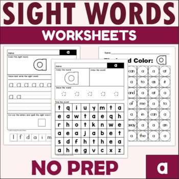 Sight Word Work: a