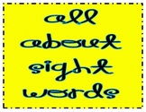Sight Word Activities and Checklists for K and 1
