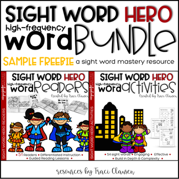 Sight Word Activities and Readers Resource Sample FREEBIE