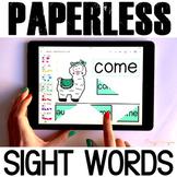Google Classroom™ Activities - Sight Words Activities for Kindergarten (llamas)