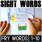 Sight Word Activities for Kindergarten Fry Words (1-10)
