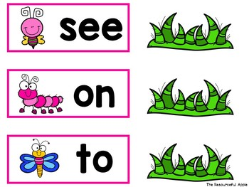 Sight Word Activities for Pre-K {Spring Edition}
