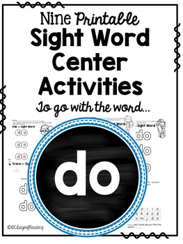 Sight Word Activities for the word {do}