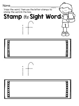 Sight Word Activities for the word {if}