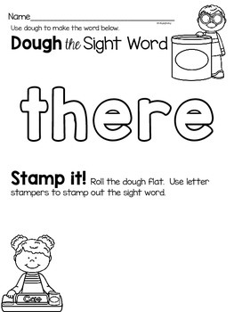 Sight Word Activities {there}