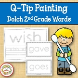 Sight Word Activities with Q Tip Painting Dolch Second Grade Words