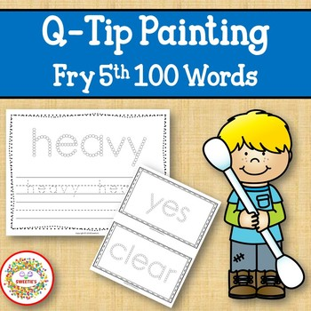 Sight Word Activities with Q Tip Painting Fry Fifth 100 Sight Words