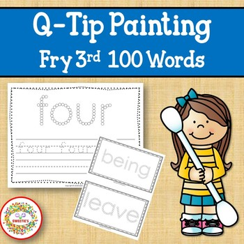 Sight Word Activities with Q Tip Painting Fry Third 100 Sight Words