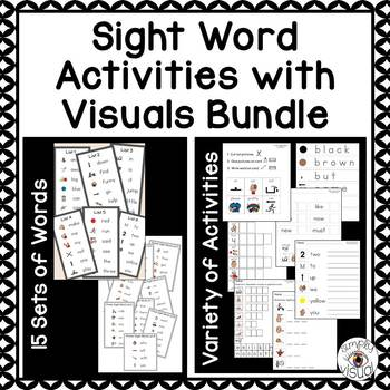 Sight Word Activities with Visuals Pre-Primer and Primer Bundle
