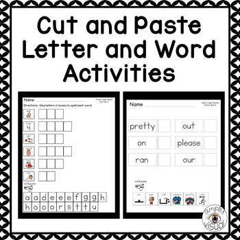 Sight Word Activities with Visuals Primer Level