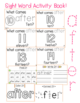 "Sight Word Activity Book: ""After"""
