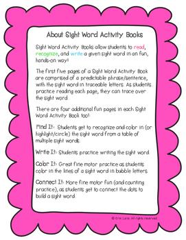 "Sight Word Activity Book: ""Again"""