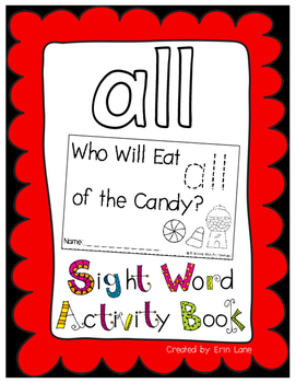"Sight Word Activity Book: ""All"""