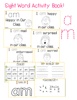 "Sight Word Activity Book: ""Am"""