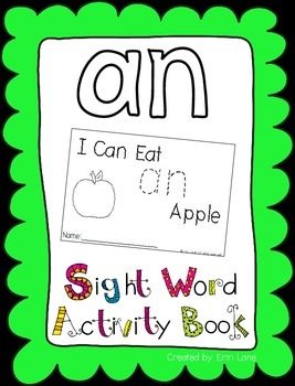 "Sight Word Activity Book: ""An"""