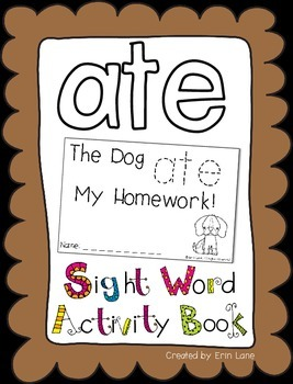 "Sight Word Activity Book: ""Ate"""