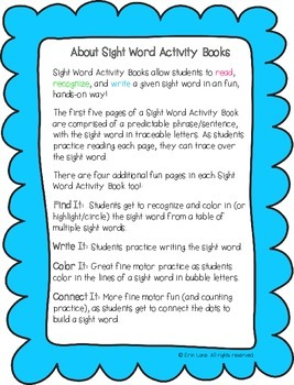 "Sight Word Activity Book: ""Away"""