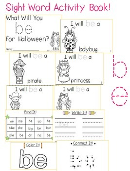 "Sight Word Activity Book: ""Be"""