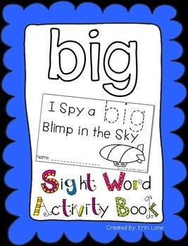 "Sight Word Activity Book: ""Big"""
