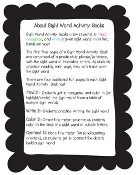 "Sight Word Activity Book: ""Black"""