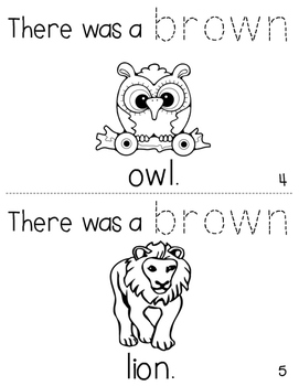 """Sight Word Activity Book: """"Brown"""""""