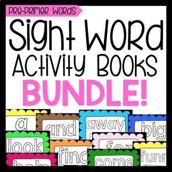 Sight Word Activity Book Bundle: Pre-Primer Words