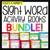 Sight Word Activity Book Bundle: Colors and Numbers