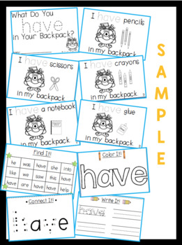 Sight Word Activity Book Bundle: Primer Words
