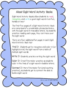 "Sight Word Activity Book: ""Can"""