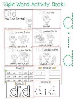 "Sight Word Activity Book: ""Did"""