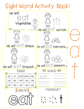 "Sight Word Activity Book: ""Eat"""
