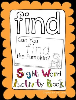 """Sight Word Activity Book: """"Find"""""""
