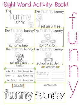 "Sight Word Activity Book: ""Funny"""