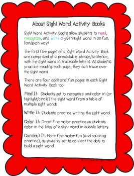 "Sight Word Activity Book: ""Go"""