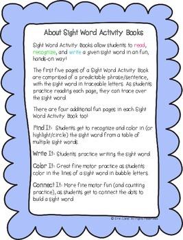 "Sight Word Activity Book: ""Good"""