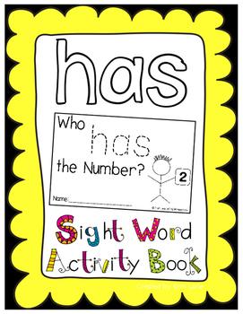 "Sight Word Activity Book: ""Has"""