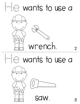 """Sight Word Activity Book: """"He"""""""