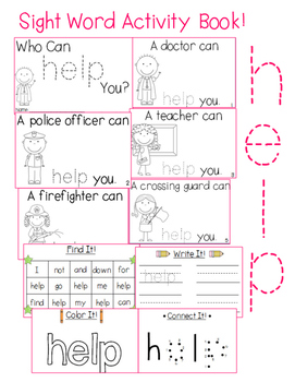 "Sight Word Activity Book: ""Help"""