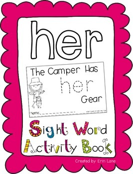 "Sight Word Activity Book: ""Her"""