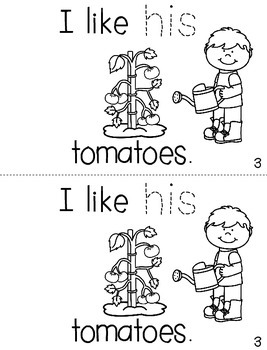 """Sight Word Activity Book: """"His"""""""