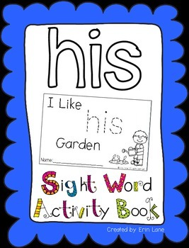 "Sight Word Activity Book: ""His"""