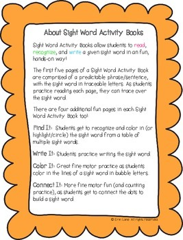 """Sight Word Activity Book: """"In"""""""