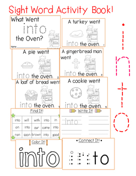 """Sight Word Activity Book: """"Into"""""""
